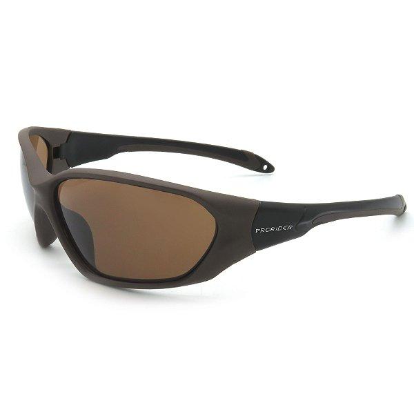 Óculos de Sol Prorider Esportivo Marrom e Preto com Lentes Marrom - BIOTOM30
