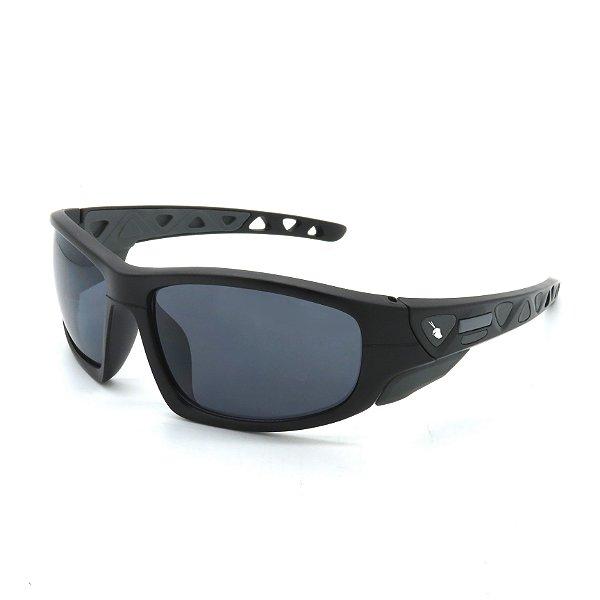 Óculos de Sol Prorider Esportivo Preto e Cinza com Lentes Fumê - BIOTOM32