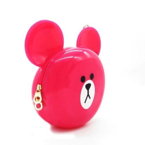 Bolsa Dark Face Pink Estampa de Urso com Alça Longa - BOLSA204