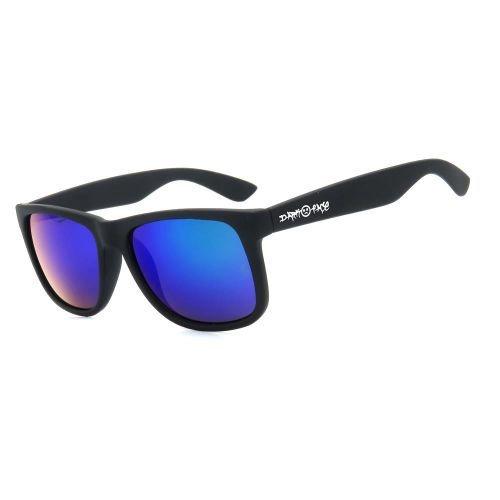 Óculos de Sol Dark Face Preto Fosco com Lente Espelhada - HJ01-2