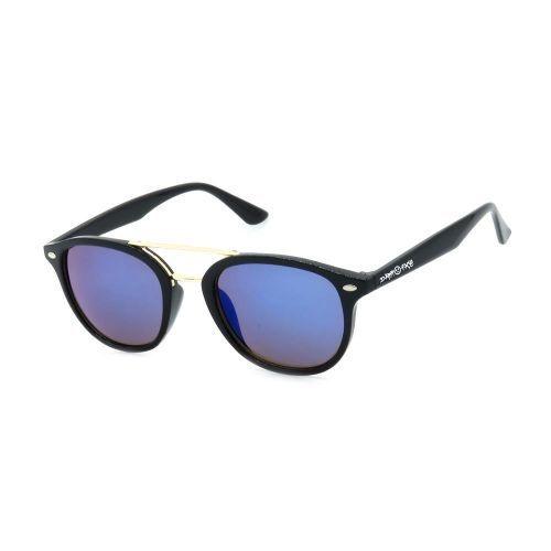 Óculos de Sol Dark Face Preto e Dourado com Lente Espelhada - B88-1329