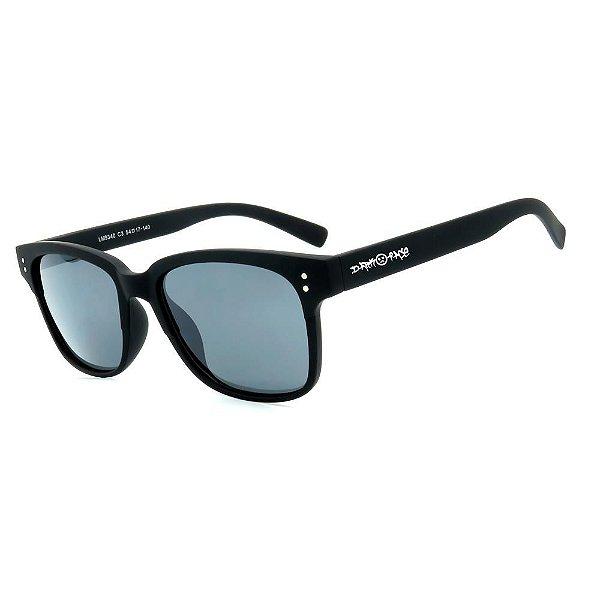 Óculos de Sol Dark Face Preto Fosco com Lente Fumê - LM9340C3