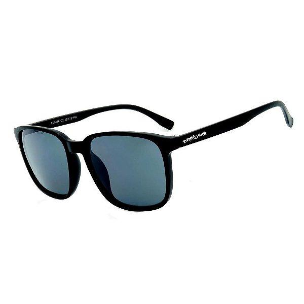Óculos de Sol Dark Face Preto Fosco com Lente Fumê  - LM9356C2