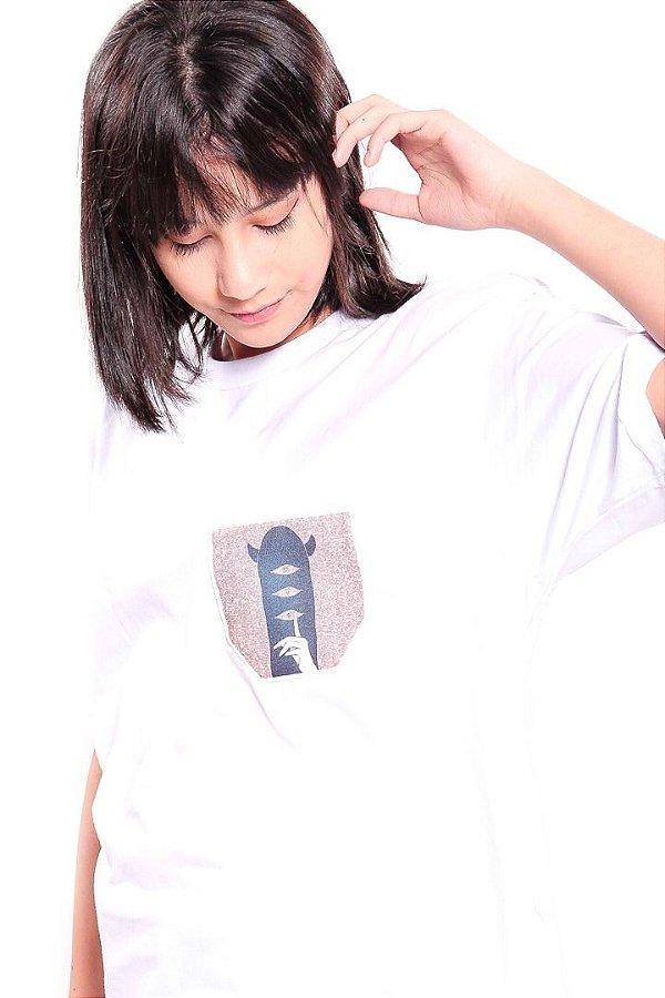 Camiseta Prorider Zeno On Branca com Bolso Pequeno estampado - ZOCAM19