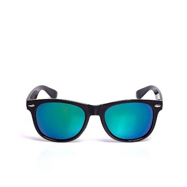 Óculos de Sol Infantil Quadrado Zjim  Preto com Lente Espelhada