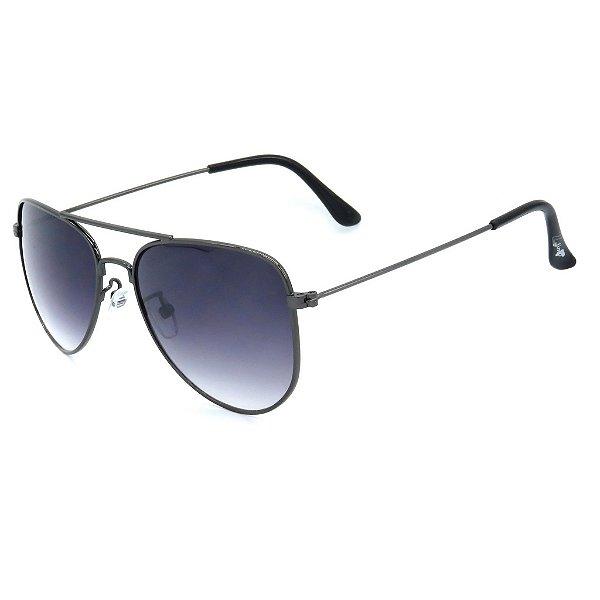 Óculos de Sol Infantil Z-JIM em Liga de Metal Aviador Preto