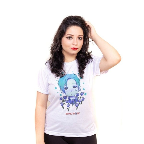 Camiseta branca Bad Rose Personagem Autoral Nanami Nem  - DIP