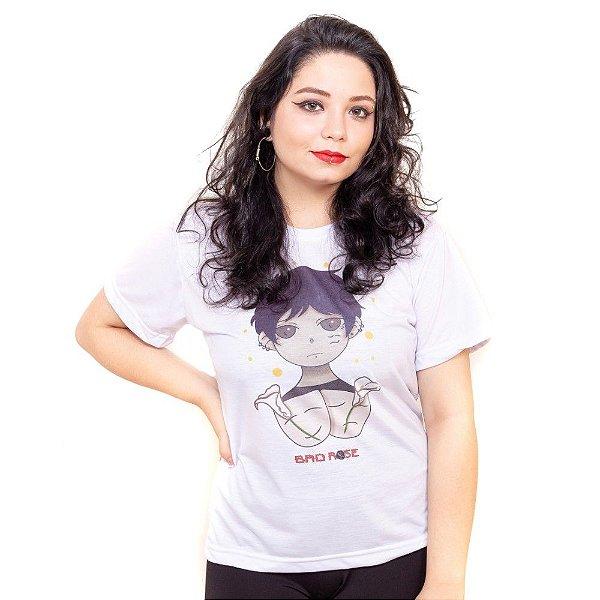 Camiseta branca Bad Rose Personagem Autoral Nanami Nem - BIB