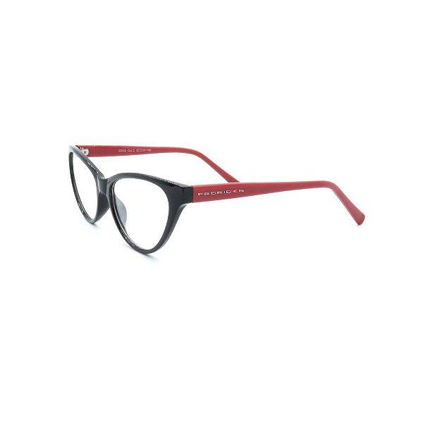 Óculos de Grau Prorider Preto e Vermelho - CR22C2
