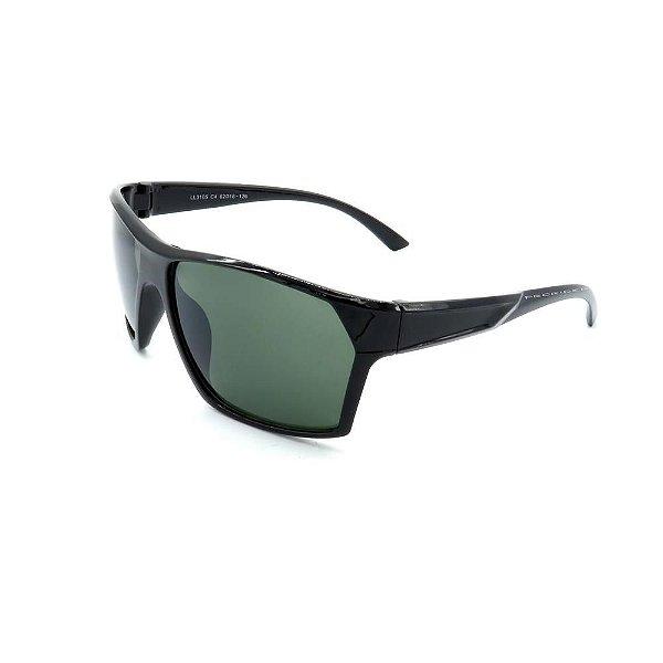 Óculos de Sol Prorider Preto com Lente Verde  - LL3105C4