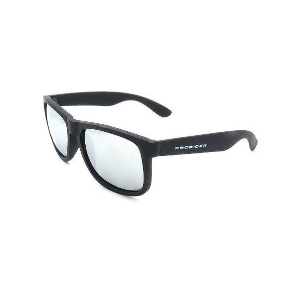 Óculos de Sol Prorider Preto com Lente Espelhada  - Z4165
