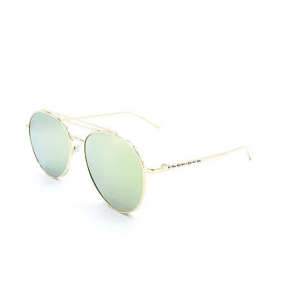 Óculos de Sol Prorider Dourado com Lente Espelhada  - DOE2