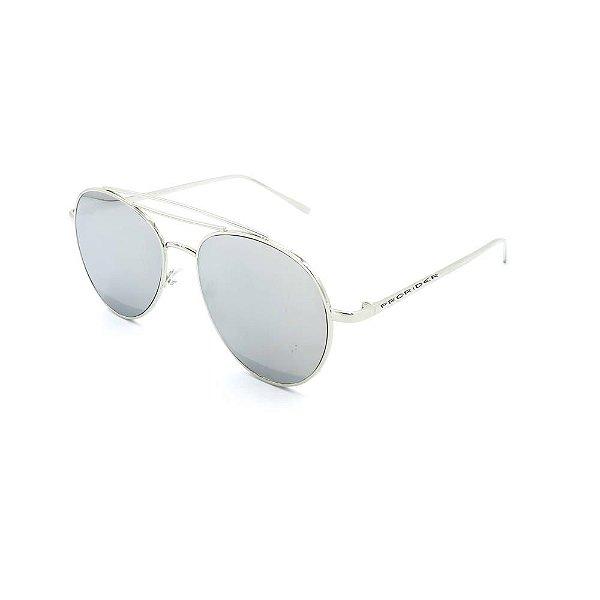 Óculos de Sol Prorider Prata com Lente Espelhada  - HO1670C6