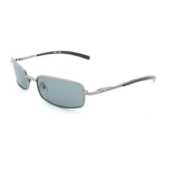 Óculos de Sol Retro Prorider Prata com Lente Fumê - 816