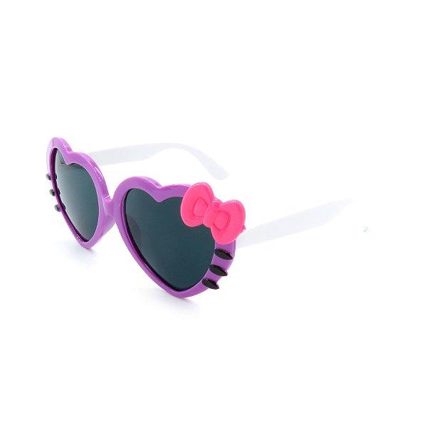 Óculos de Sol Prorider Infantil Roxo e branco com laço rosa - ZXD28-20