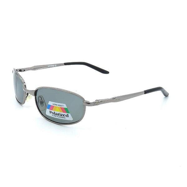 Óculos de Sol Retro Prorider Prata com Lente Fumê - 863