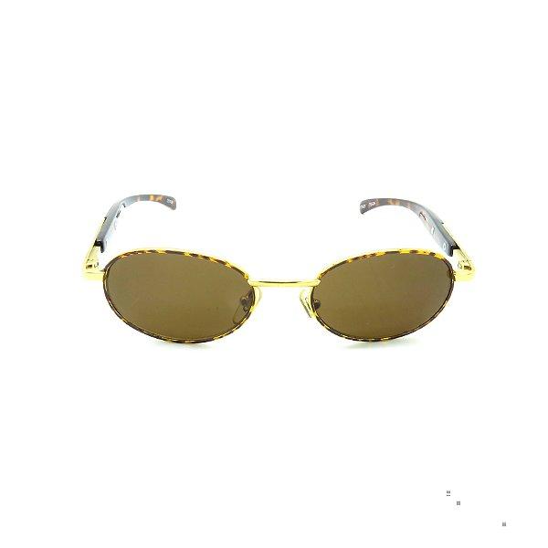 Óculos Solar Prorider  Retro Dourado com animal Print - 20109