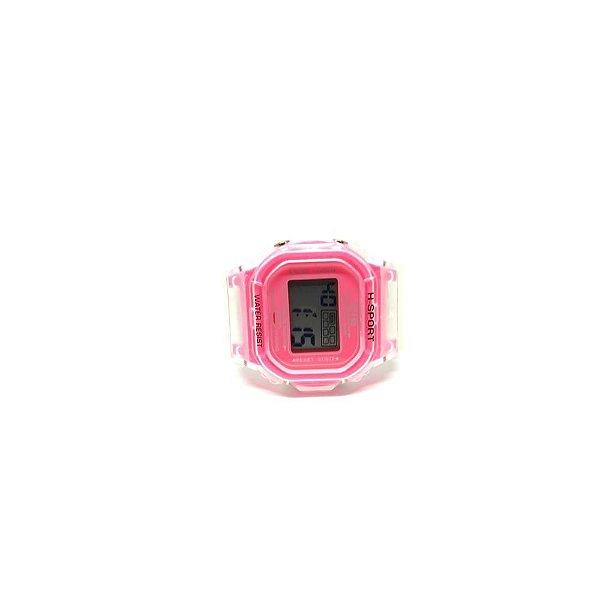 Relógio Dark Face Retro Translucido com Rosa - RLRTRS2020