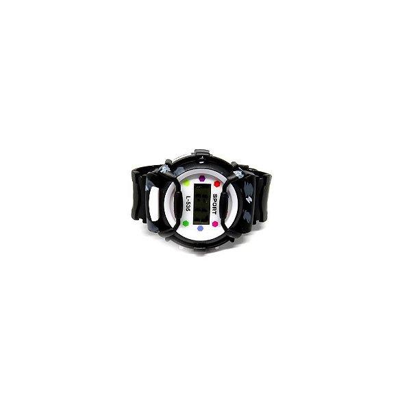 Relógio Infantil Prorider Preto com Estampa de Manchas - RLIPT2020