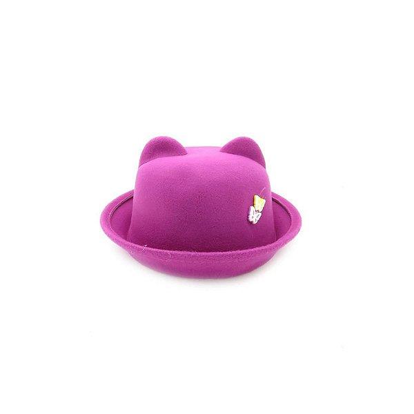 Chapéu com orelhinha Bad Rose Roxo - CCBRRX