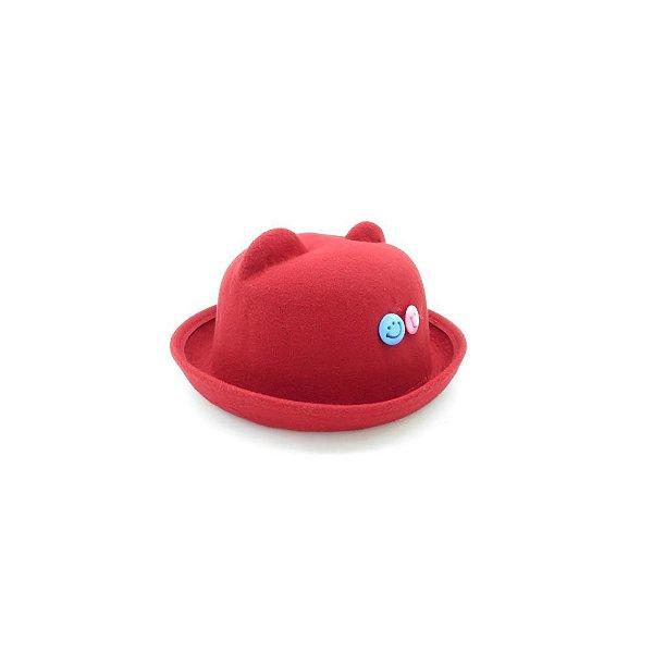 Chapéu com orelhinha Bad Rose Vermelho com detalhes azul e rosa - CCBRVR
