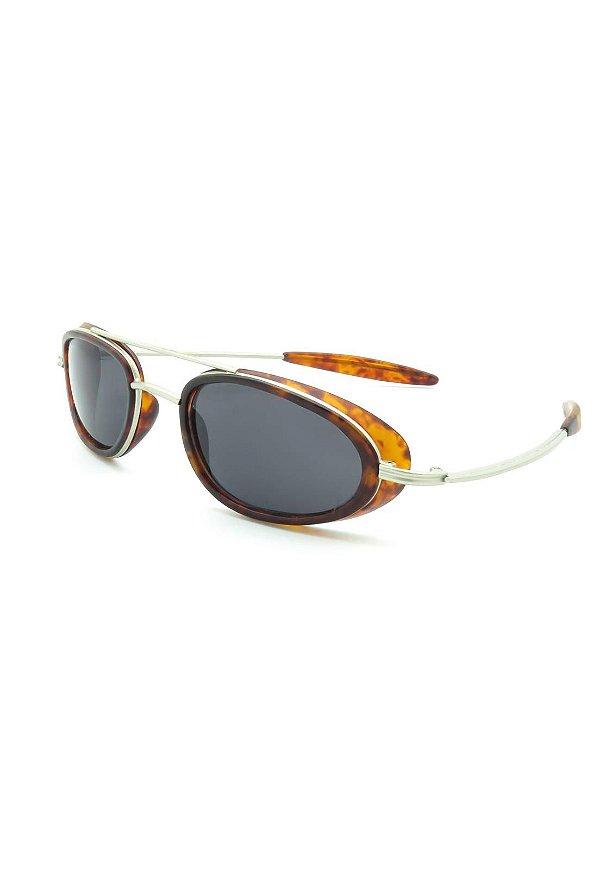 Óculos de Sol Retro Prorider Prata com lente fumê - 78027