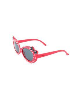 Óculos Solar Prorider Infantil vermelho com lacinho preto e bolinhas brancas - ZXD023