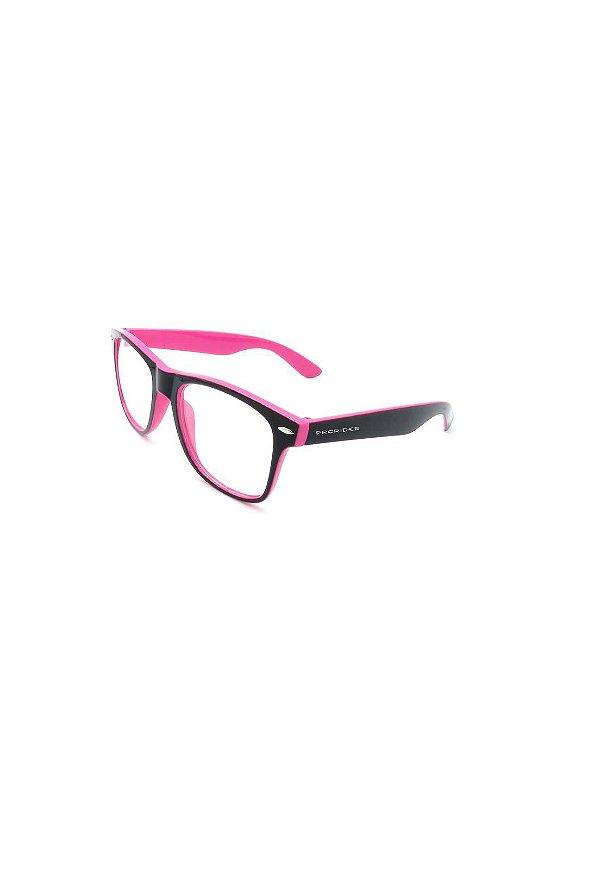 Óculos receituário Prorider rosa e preto fosco
