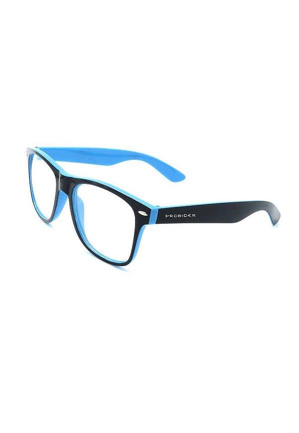 Óculos receituário Prorider  preto e azul - ZXD101A