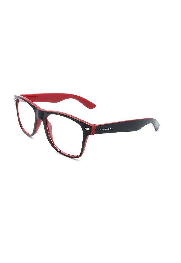 Óculos receituário Prorider vermelho e preto fosco