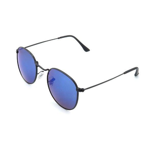Óculos de Sol Prorider Preto com Lente Espelhada Azul - 3447