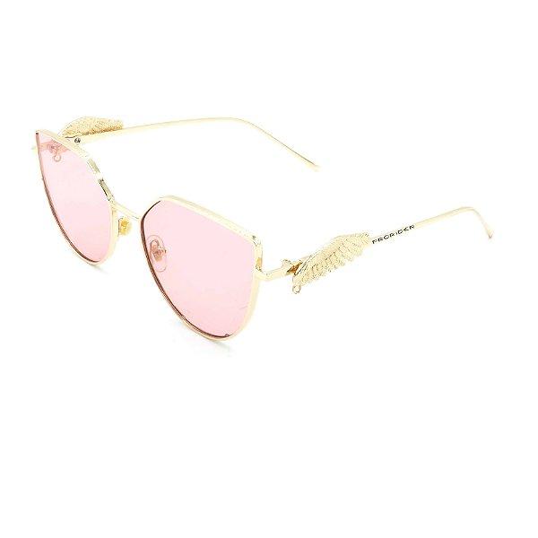 Óculos de Sol Prorider Dourado com Detalhes -  8277-1