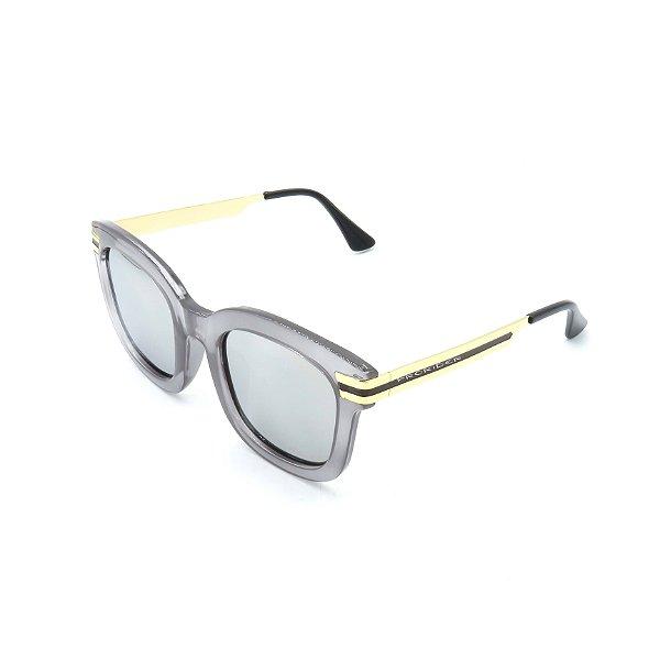 Óculos de Sol Prorider Cinza Translúcido com Dourado -  76035C5