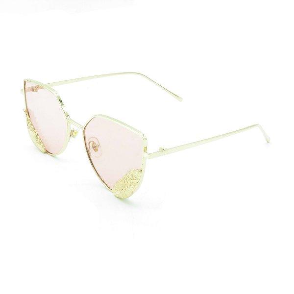 Óculos de Sol Prorider Dourado com Detalhes -  8276-1