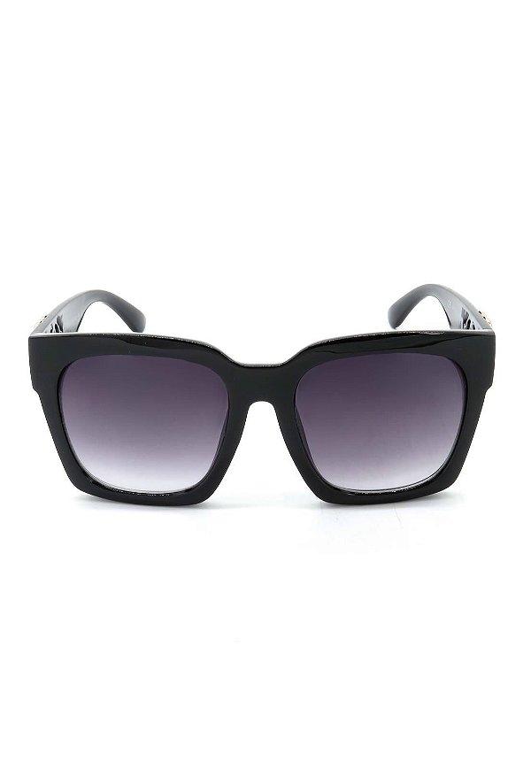 Óculos de Sol Prorider Preto e Dourado com Lente Degrade - CJH72131C1
