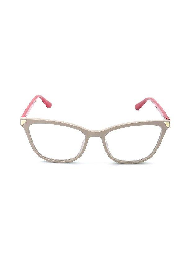 Óculos de Grau Prorider Bege Rosê com Vermelho - DO220023C2