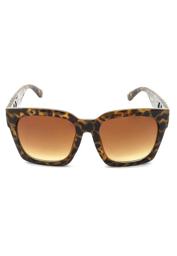 Óculos de Sol Prorider Animal Print Fosco com Dourado - JH72131C2