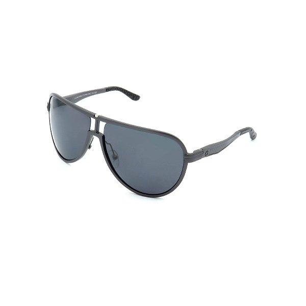 Óculos de Sol Prorider Grafite com lente Polarizada Fumê tóricas descentradas proteção UVA e UVB até 400nm e 3 filtros de anti reflexo fabricado em fibra de magnesium extra leve - JM61002