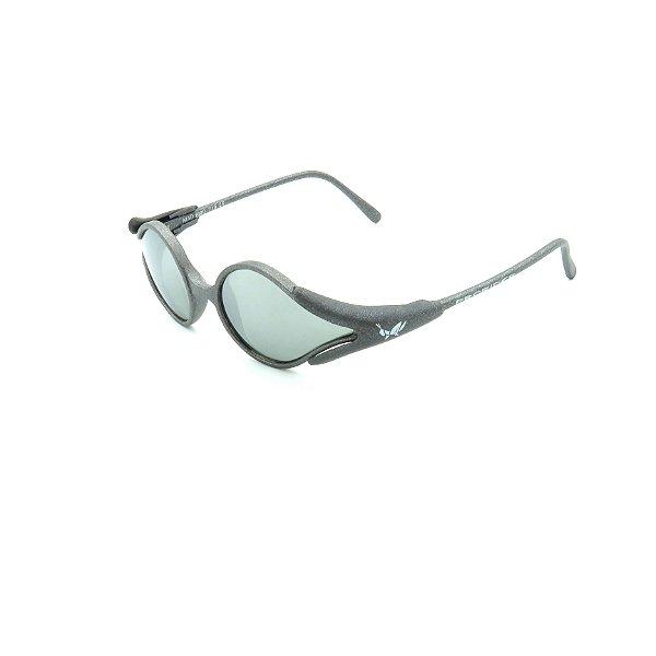 Óculos de Sol Prorider Cinza Fosco Detalhado com Lente Prata Espelhada - CDF718