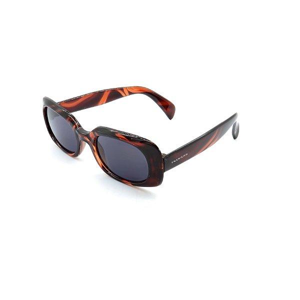 Óculos Solar Prorider Retrô Marrom Com Lente Fumê - OM476358