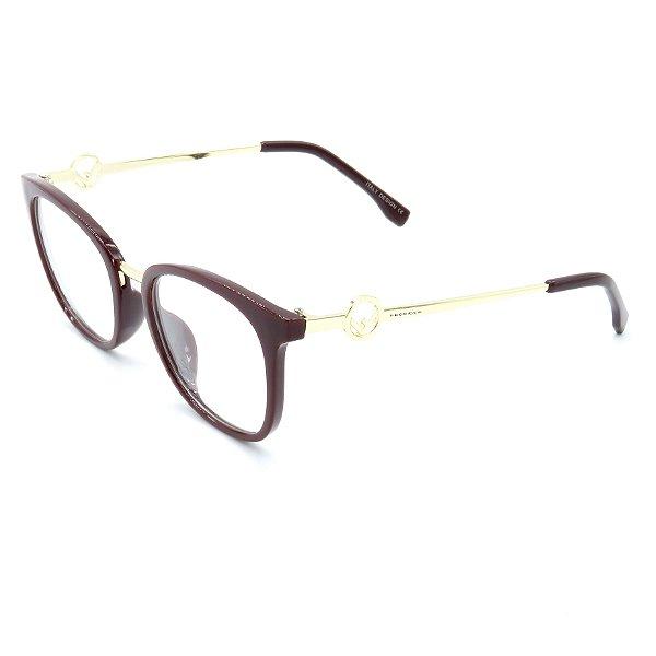 Óculos Receituário Prorider Vinho Translúcido com Dourado - CH5518C1