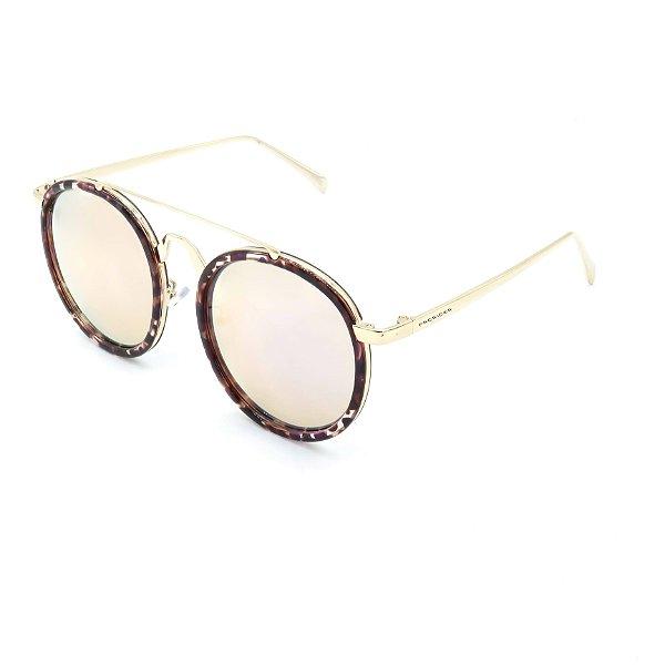 Óculos Solar Prorider Retrô Dourado e Multicores Com Lentes Espelhadas Rosê - RM0231C2