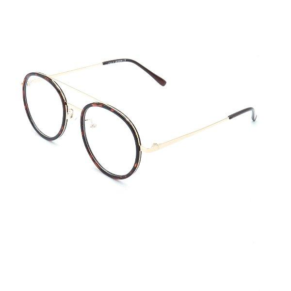 Óculos Solar Prorider Retrô Dourado e Multicores Com Lentes Espelhadas Prata - RM0231C4