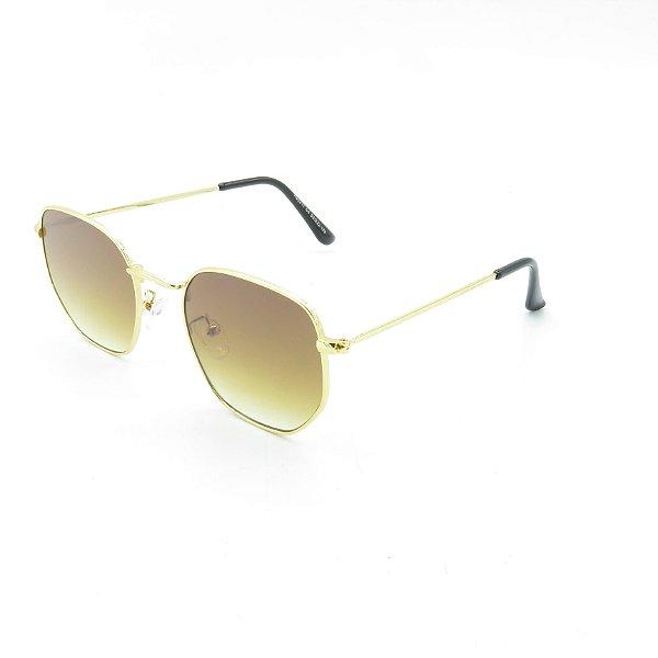 Óculos de Sol Prorider Dourado Brilhante com Lente Degradê Marrom - H02211C4