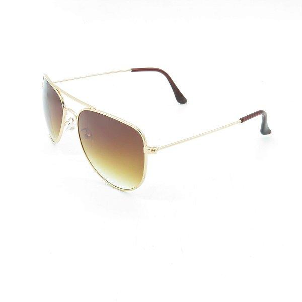 Óculos de Sol Prorider Dourado Brilhante com Lente Degradê Marrom - OP3210C3