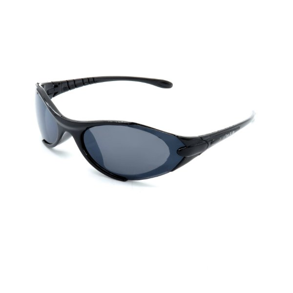 Óculos de Sol Prorider Retrô Preto Brilhante Detalhado com Lente Fumê - R8042C1