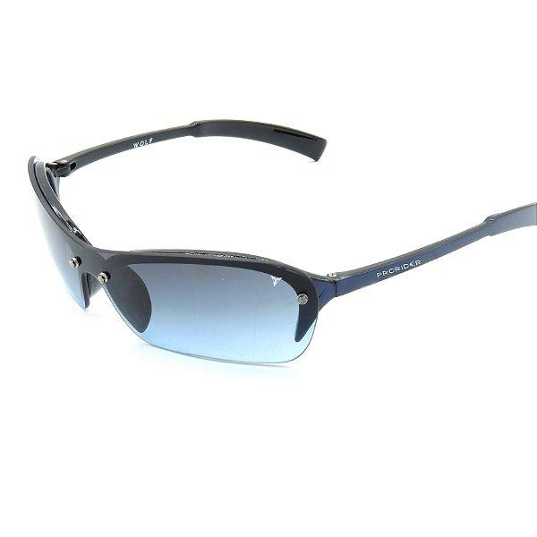 Óculos de Sol Prorider Retrô Azul Fosco com Lentes Degradê Azul - WOLF21