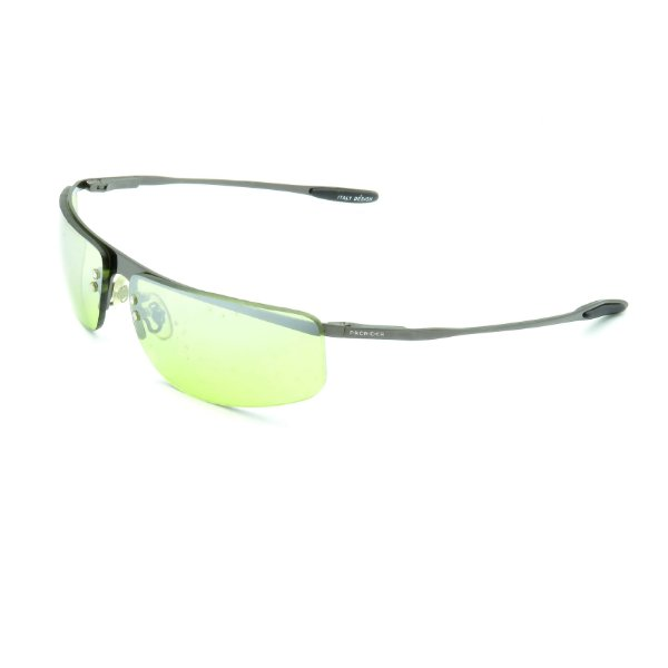 Óculos de Sol Prorider Retrô Prateado Brilhante com Lente Verde -