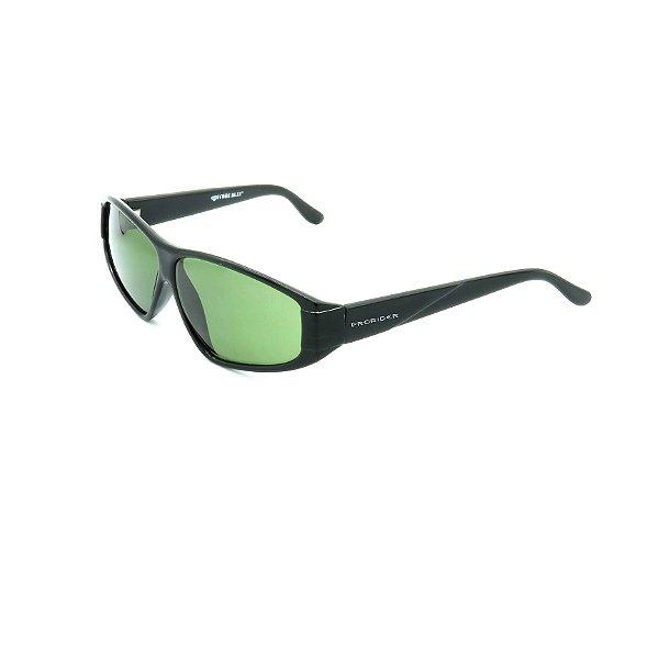 Óculos de Sol Prorider Retrô Preto Brilhante com Lente Fumê Verde - CODE-R7
