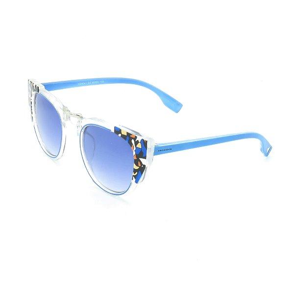 Óculos de Sol Prorider Detalhado Transparente e Azul com Lente Degradê Azul - KD8041C2